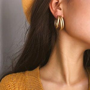 Jewelry - Gold and Silver Triple Hoop Earrings